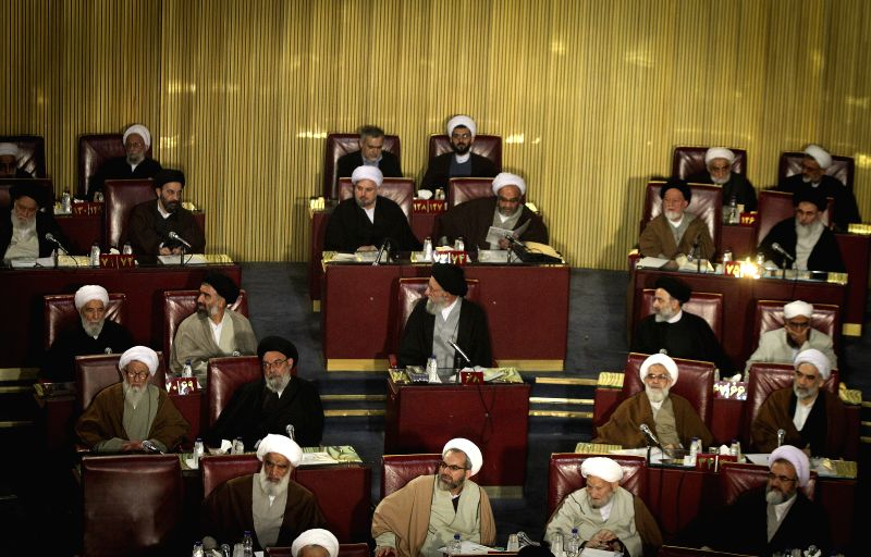 Members of Iran's Assembly of Experts attend a two-day official meeting in Tehran, Iran, March 10, 2015. Iran's Assembly of Experts Tuesday elected Ayatollah ...