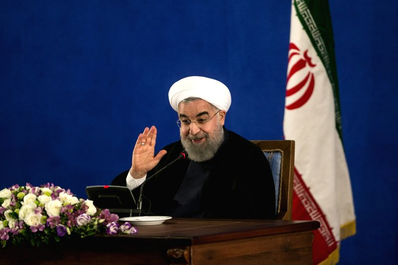 TEHRAN, May 22, 2017 - Iran's re-elected President Hassan Rouhani gestures during a press conference in Tehran, capital of Iran, on May 22, 2017. Iran's re-elected President Hassan Rouhani said ... - Hassan Rouhani