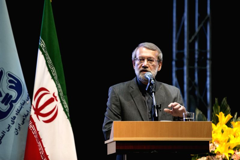 TEHRAN, May 6, 2017 - Iranian Parliament Speaker Ali Larijani speaks during the opening ceremony of the 22nd Iran International Oil, Gas, Refining and Petrochemical Exhibition in Tehran, Iran, May 6, ... - Ali Larijani