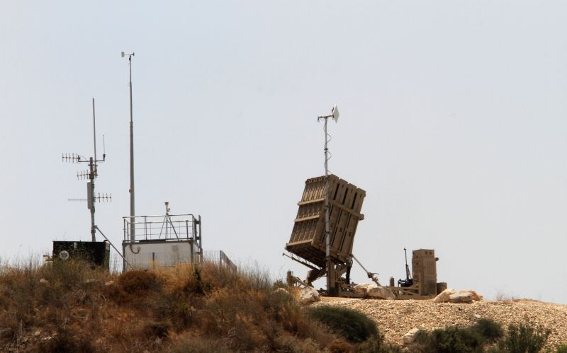 TEL AVIV, July 16, 2018 - Photo taken on July 16, 2018 shows an Iron Dome launcher deployed in central Israel. Israel deployed Iron Dome anti-rocket batteries in central Israel on Sunday amid ...