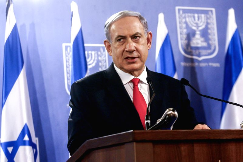 Israeli Prime Minister Benjamin Netanyahu addresses a news conference in Tel Aviv, Israel, on July 28, 2014. Israel's top political and defense leadership on ...