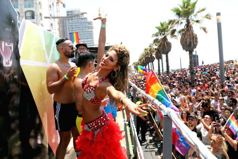 TEL AVIV, June 8, 2018 - People participate in the pride parade in Tel Aviv, Israel, on June 8, 2018.