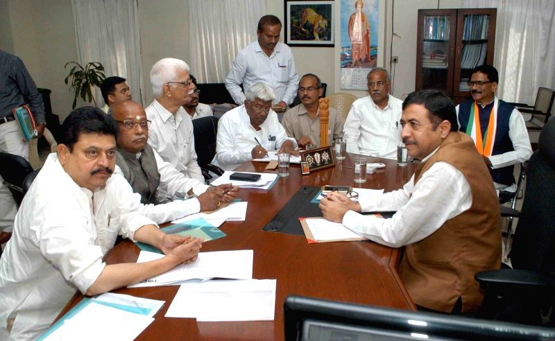 Telangana Chief Electoral Officer Anoop Singh during an all-party meeting at the Secretariat in Hyderabad on Dec 7, 2017.
