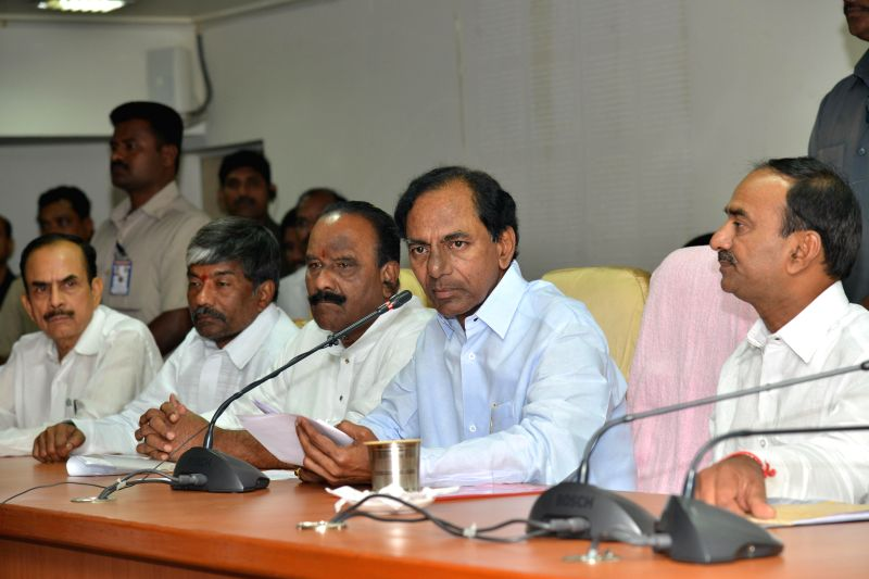 Telangana Chief Minister K Chandrasekhar Rao during a press conference in Hyderabad on July 16, 2014. - K Chandrasekhar Rao