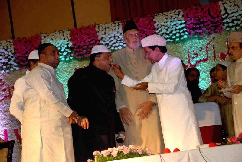 Telangana Chief Minister K Chandrasekhar Rao during an Iftar party in Hyderabad on July 22, 2014. - K Chandrasekhar Rao