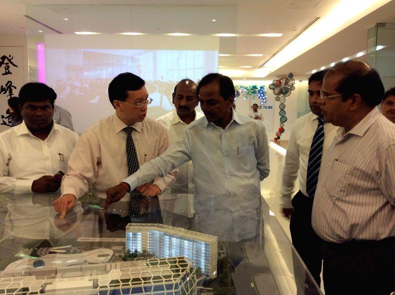 Telangana Chief Minister K Chandrasekhar Rao during his Singapore visit on Aug 20, 2014. - K Chandrasekhar Rao