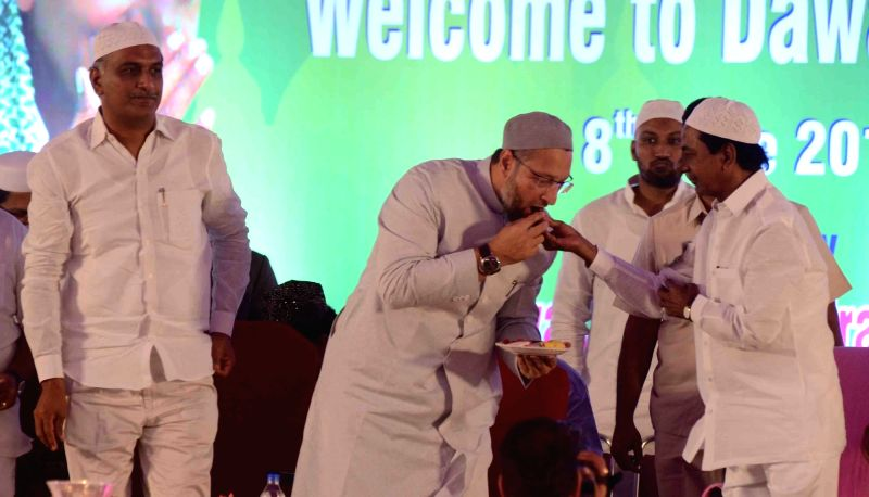 Telangana Chief Minister K Chandrasekhar Rao during an iftaar party hosted by him in Hyderabad on June 8, 2018. - K Chandrasekhar Rao