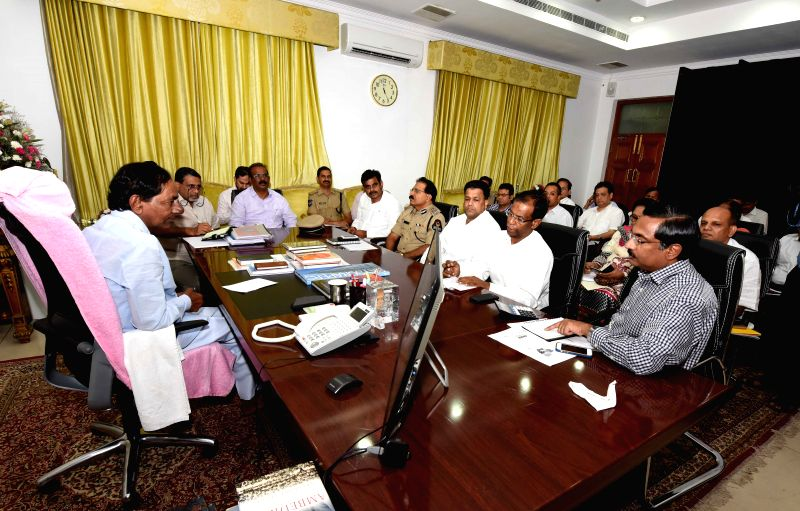 Telangana Chief Minister K Chandrashekhar Rao during a meeting on NITI Aayog in Hyderabad on July 2, 2015. - K Chandrashekha