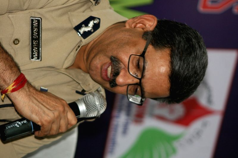 Telangana Director General of Police Anurag Sharma addresses a press conference in Hyderabad, on Dec 9, 2015. - Anurag Sharma