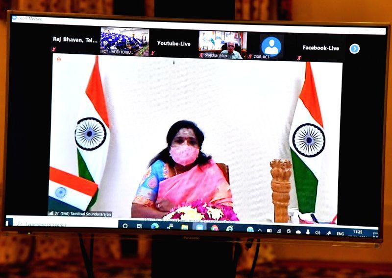 Telangana governor calls for self-reliance in APIs, KSM