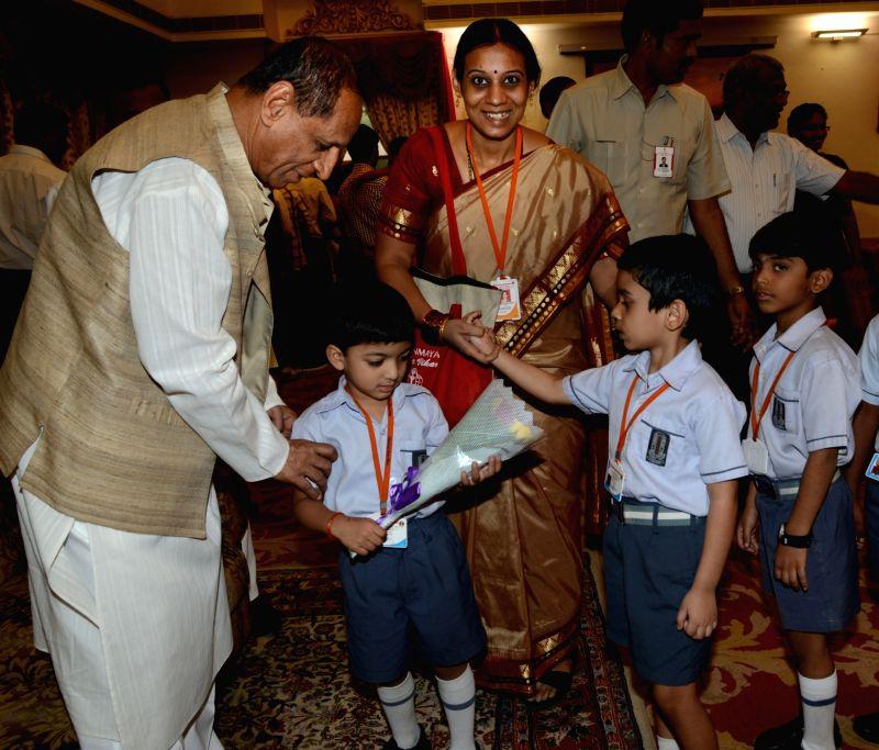 Telangana Governor ESL Narasimhan during a Children's Day programme organised at Raj Bhawan in  Hyderabad, on Nov 14, 2015.