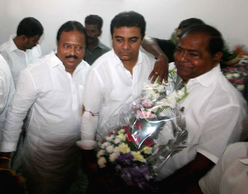 Telangana Information and Technology Minister KT Rama Rao during a programme organised by his supporters celebrate his 39th birthday in Hyderabad, on July 24, 2015.