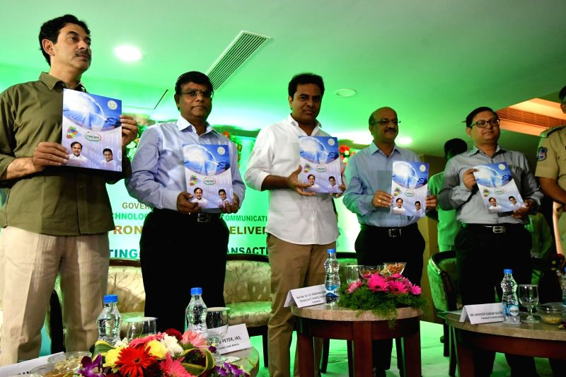 Telangana IT Minister K T Rama Rao during the launch of Mee Seva Electronic Servise Delivery in Hyderabad on July 22, 2016. - K T Rama Rao