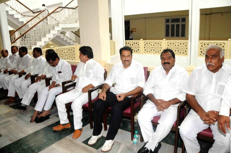 Telangana legislators at the state assembly during presidential polls in Hyderabad on July17, 2017.
