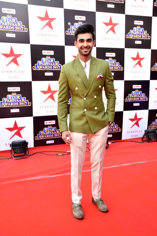 Television actor Abhishek Verma during the red carpet of Star Parivaar Awards 2017 in Mumbai on May 13, 2017. - Abhishek Verma