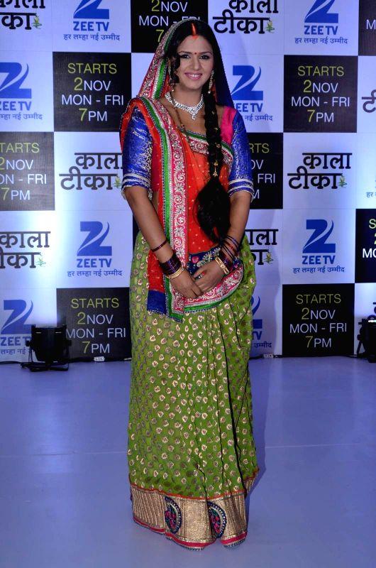Television actor Daljeet Kaur Bhanot during the launch of Zee TV new show Kaala Teeka, in Mumbai, on Oct 27, 2015. - Daljeet Kaur Bhanot