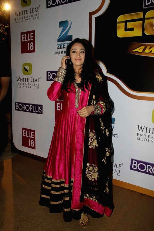 Television actor Disha Vakani during the 7th Boroplus Zee Gold Awards 2014 in Mumbai, on May 17, 2014. - Disha Vakani