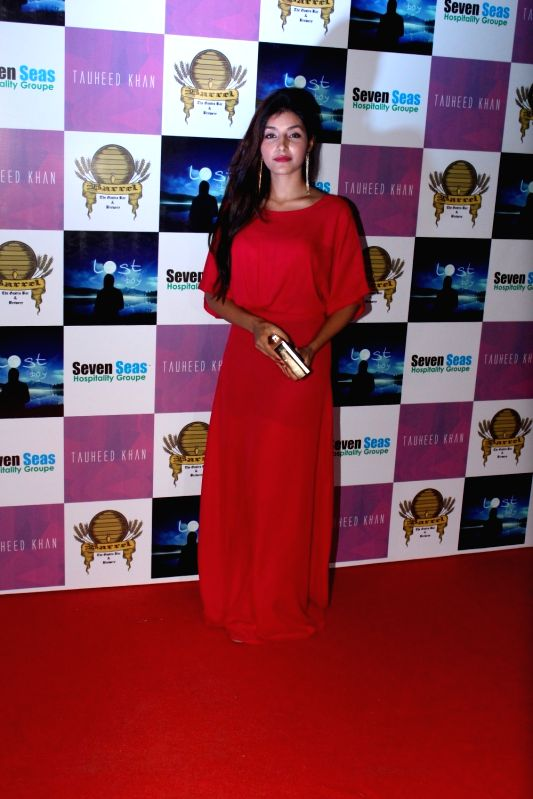 Television actor Harshita Gaur during the birthday party of Television producer Vikas Gupta in Mumbai on May 6, 2017. - Harshita Gaur and Vikas Gupta