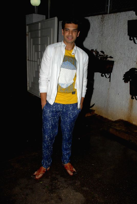 Television actor Karan Kundra during special screening of film Hate Story 2, in Mumbai on July 17, 2014. - Karan Kundra