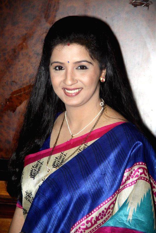 Television actor Kavita Lad during the launch of new TV Show Chandrakant Chiplunkar Seedi Bambawala in Mumbai Aug 6, 2014. - Kavita Lad