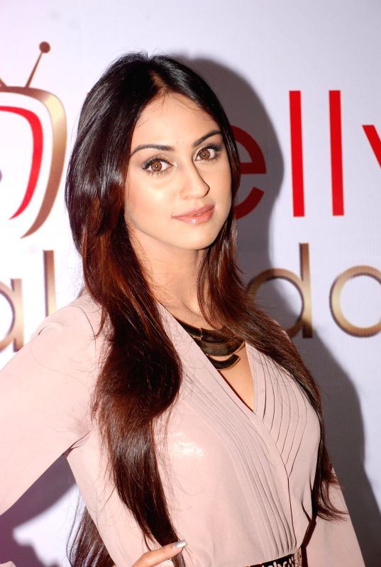 Television actor Krystal D'souza during the announcement of Telly Calendar 2015 in Mumbai on July 31, 2014. - Krystal