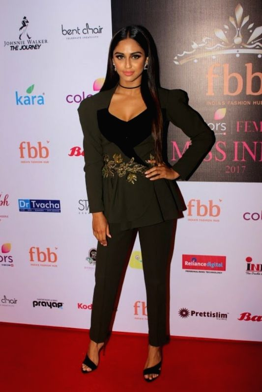 Television actor Krystle D`souza during the event organised to reveal the 30 state finalist of Miss India in Mumbai, on June 2, 2017. - Krystle