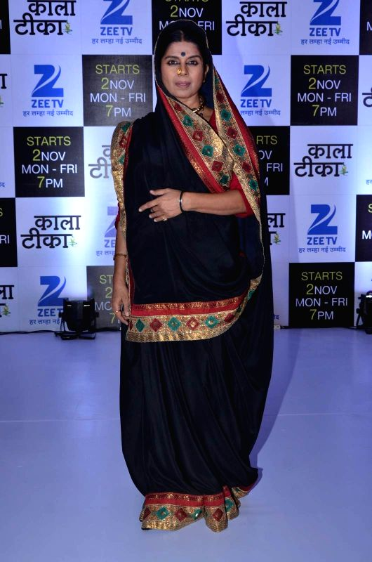 Television actor Mita Vashisht during the launch of Zee TV new show Kaala Teeka, in Mumbai, on Oct 27, 2015. - Mita Vashisht