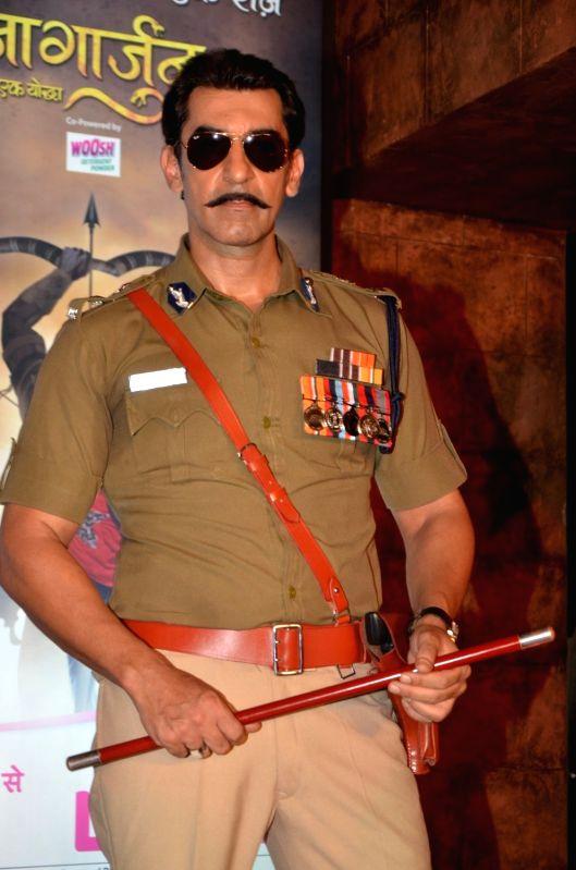 Television actor Nawab Shah during the launch of Life Ok`s new television show Naagarjuna - Ek Yoddha, in Mumbai on May 24, 2016. - Nawab Shah