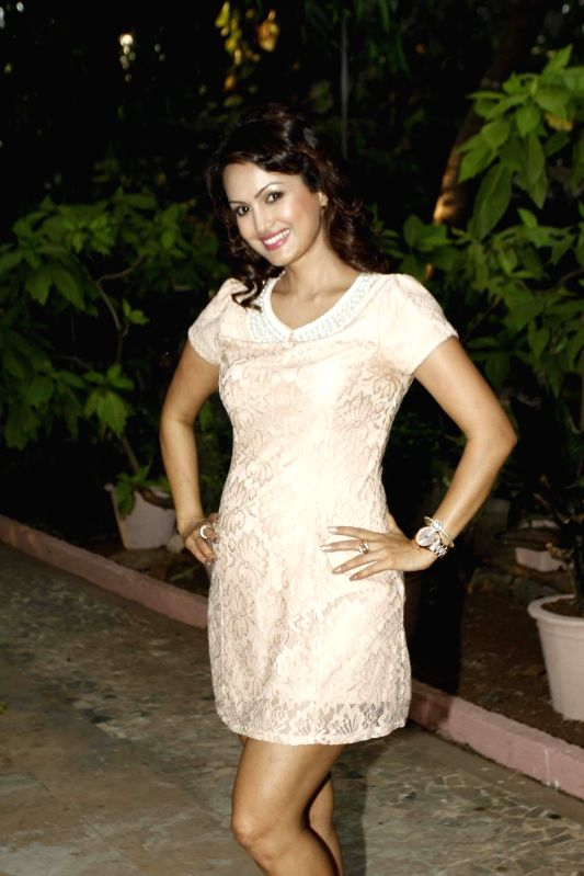 Television actor Nisha Rawal during during the launch of Nisha Rawal's song, Choti si Asha, to raise funds for under privileged children in Mumbai, on Nov 13, 2015.