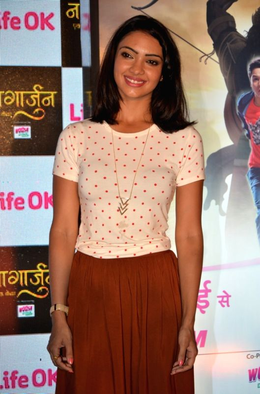 Television actor Pooja Banerjee during the launch of Life Ok`s new television show Naagarjuna - Ek Yoddha, in Mumbai on May 24, 2016. - Pooja Banerjee