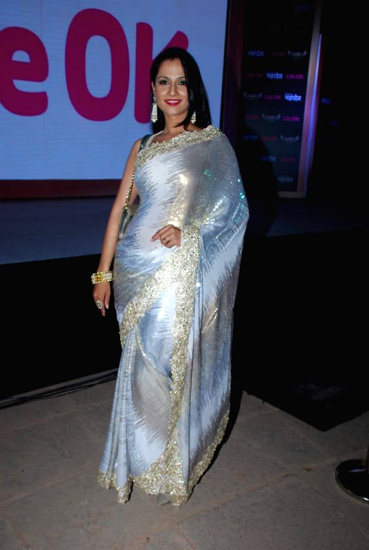 Television actor Shalini Kapoor during the launch of Life Ok new serial Mahakumbh in Mumbai, on Dec 5, 2014. - Shalini Kapoor