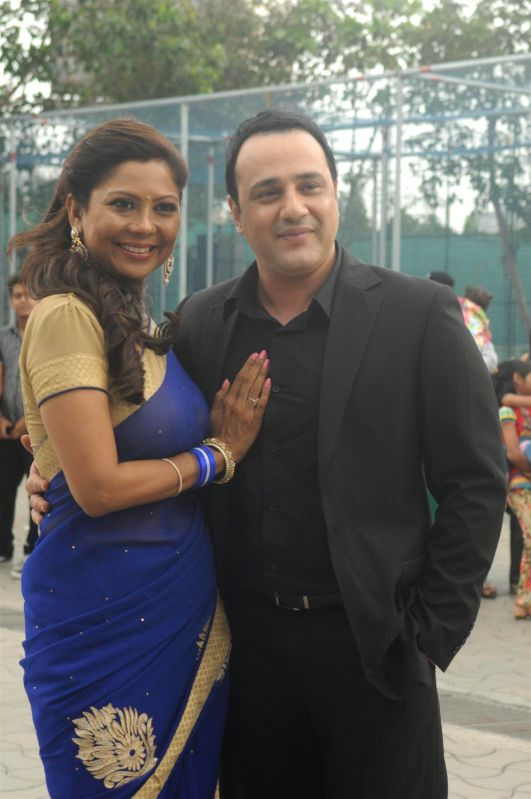 Television actors Manini Mishra and Mihir Mishra during the Star Parivaar award ceremony in Mumbai on June 21, 2014. - Manini Mishra and Mihir Mishra