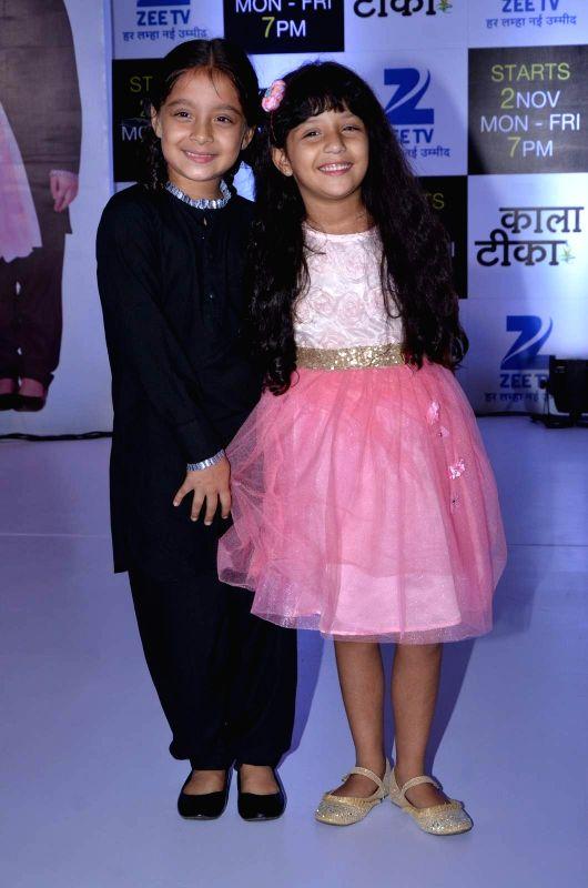 Television actors Sargam Khurana and Adaa Narang during the launch of Zee TV new show Kaala Teeka, in Mumbai, on Oct 27, 2015. - Sargam Khurana and Adaa Narang