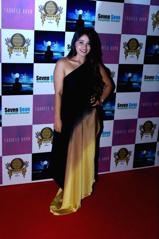 Television actress Chandni Panjwani during the birthday party of Television producer Vikas Gupta in Mumbai on May 6, 2017. - Chandni Panjwani and Vikas Gupta