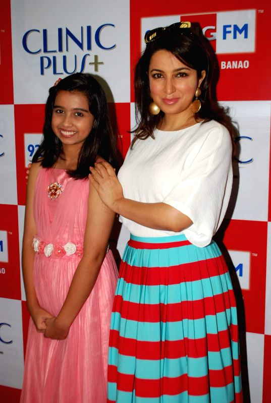 Television child actor Sparsh Khanchandani and Tisca Chopra during the launch of Maa Ke Aanchal Mein - Radio Ki Pehli Picture by BIG FM & Clinic Plus in Mumbai on May 09, 2014. - Sparsh Khanchandani and Tisca Chopra