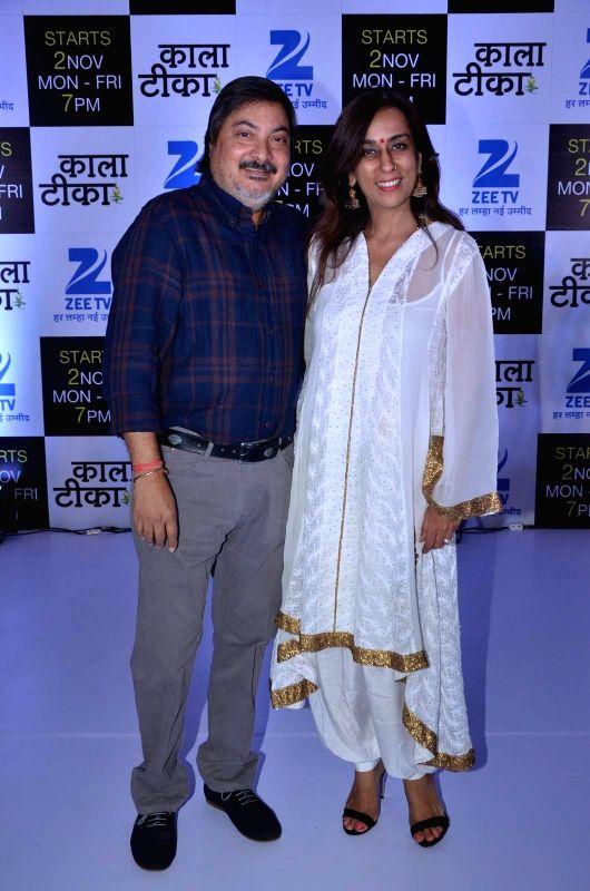 Television producers Tony and Deeya Singh during the launch of Zee TV new show Kaala Teeka, in Mumbai, on Oct 27, 2015. - Deeya Singh