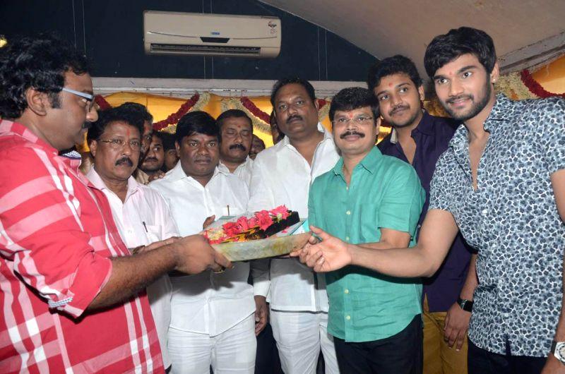 Telugu actor Bellamkonda Srinivas`s untitled movie muhurath.