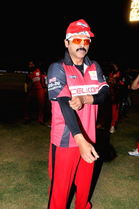 CCL match between Telugu Warriors vs Mumbai - Venkatesh