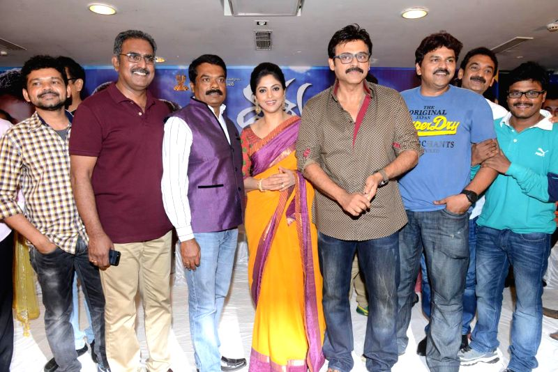 Telugu film Drishyam success meet held at Dasapalla Hotel in Hyderabad. (Photo: IANS).