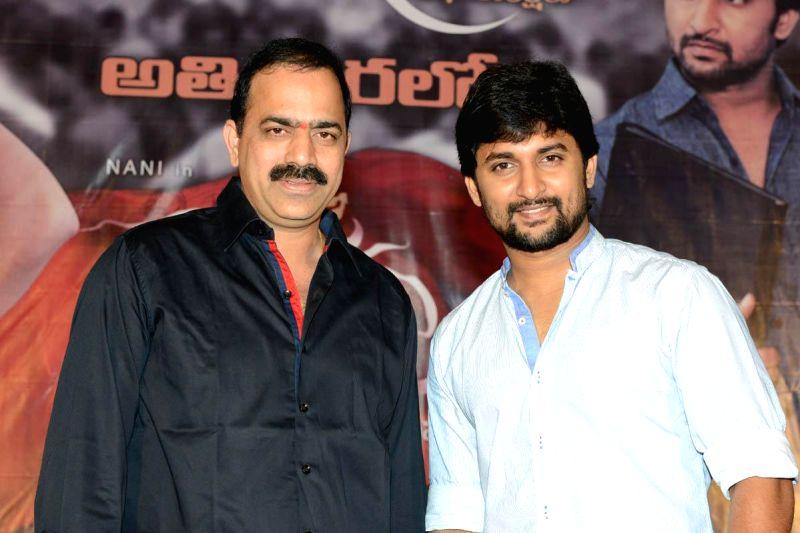 Telugu film `Janda Pai Kapiraju` Press Meet held at Hyderabd. (Photo: IANS).