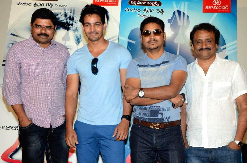 Telugu film `Maaya` pressmeet. (Photo: IANS).
