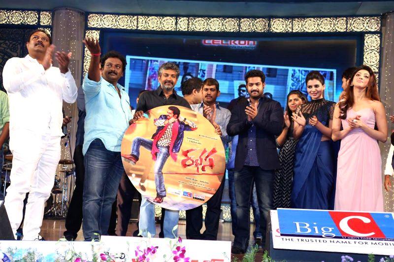 Telugu film Rabhasa audio release function held at Shilpa Kala Vedika in Hyderabad.