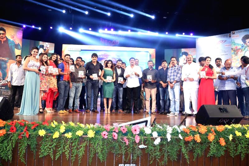 Telugu film Sikandar audio release function in Hyderabad. (Photo: IANS).