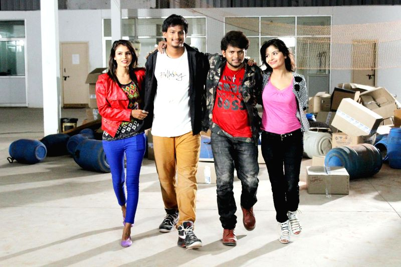 Telugu movie `B Tech Love Story` Stills.
