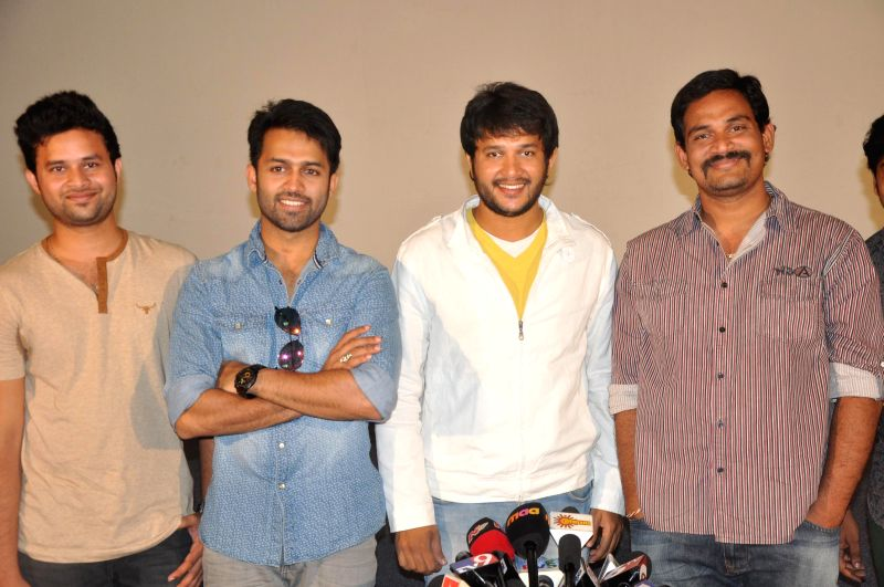 Telugu movie `Gaallo Thelinattunde` press meet of successfully running in Hyderabad on August 02, 2014.