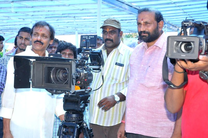 Telugu movie `Gummadikayala Dongalu` muhurath shot.