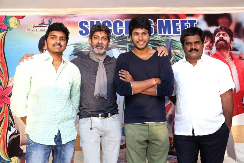 Telugu movie `Ra Ra Krishnaiah` success meet at Hyderabad.
