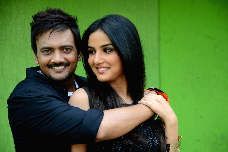 Telugu movie stills `Dillunnodu`.
