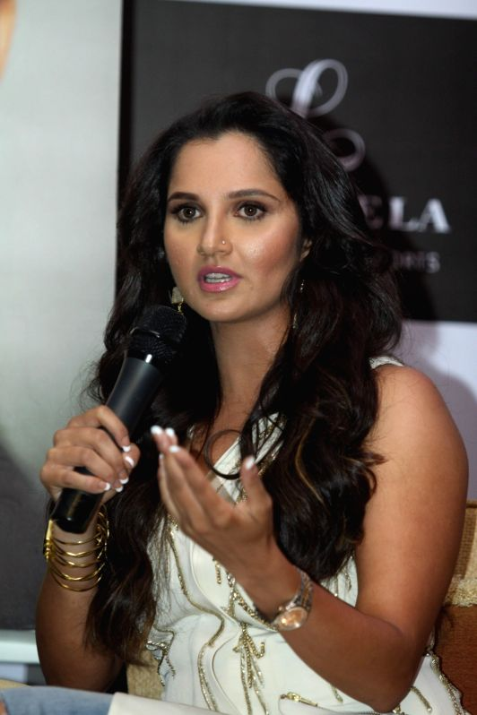 "Tennis player Sania Mirza during the launch of her autobiography ""Ace Against Odds"" in Mumbai on July 17, 2016. - Sania Mirza"