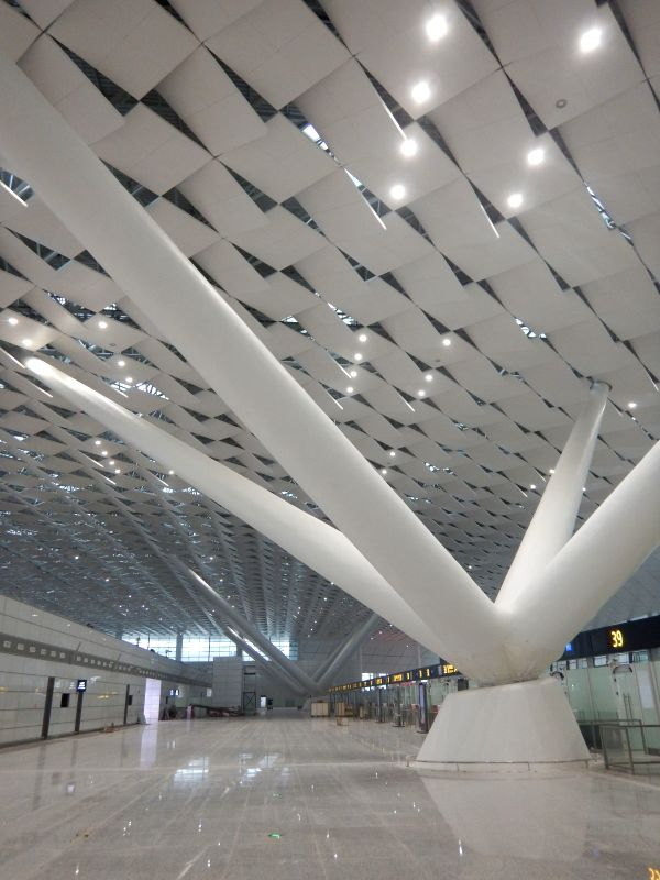 Terminal 2 of the airport is seen in Zhengzhou, capital of central China's Henan Province, Nov. 17, 2015. The newly-built Terminal 2 of Zhengzhou Airport is ...